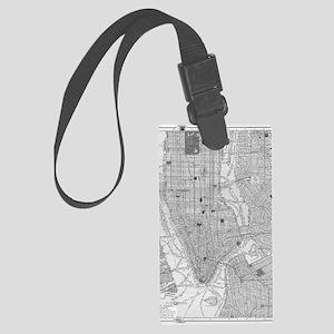 Vintage Map of Manhattan NYC Large Luggage Tag