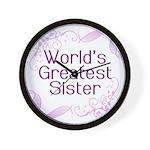 World's Greatest Sister Wall Clock