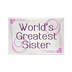 World's Greatest Sister Rectangle Magnet (100 pack