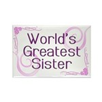 World's Greatest Sister Rectangle Magnet