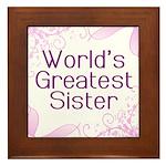 World's Greatest Sister Framed Tile
