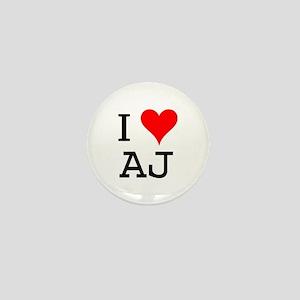 I Love AJ Mini Button