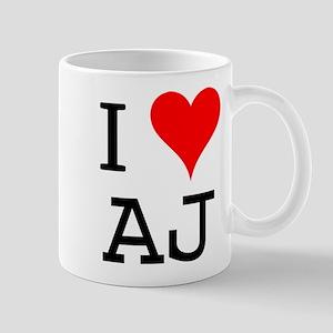 I Love AJ Mug