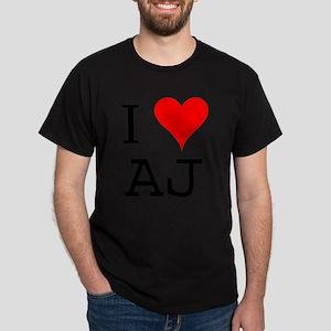 I Love AJ Dark T-Shirt