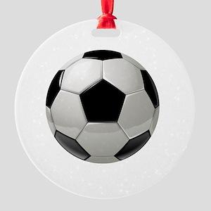 Soccer Ball Round Ornament
