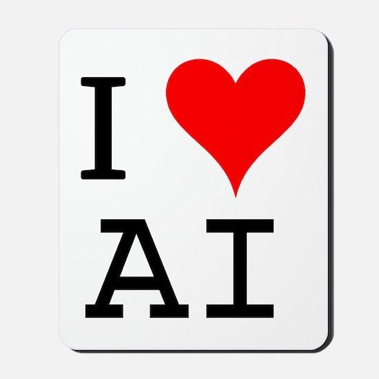 I Love AI Mousepad