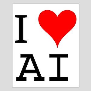 I Love AI Small Poster