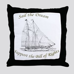 Sail the Dream Throw Pillow