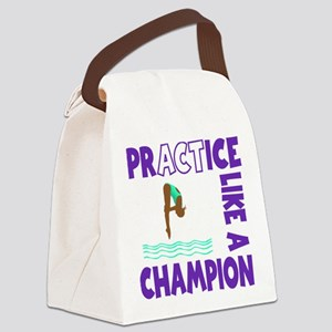 PRACTICE DIVING Canvas Lunch Bag