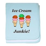 Ice Cream Junkie baby blanket
