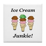 Ice Cream Junkie Tile Coaster