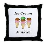 Ice Cream Junkie Throw Pillow