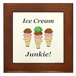 Ice Cream Junkie Framed Tile