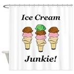 Ice Cream Junkie Shower Curtain