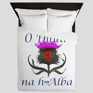 Flower Of Scotland Gaelic Thistle Queen Duvet