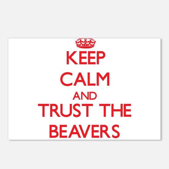 Keep calm and Trust the Beavers Postcards (Package
