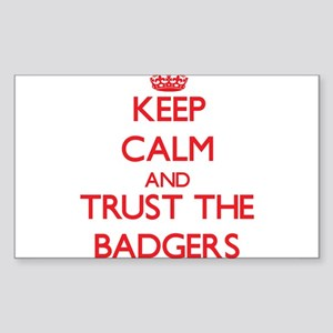 Keep calm and Trust the Badgers Sticker