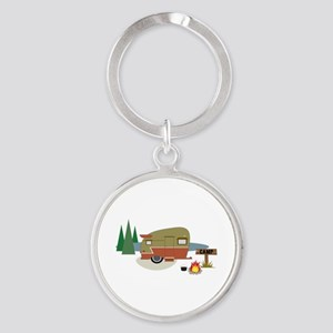 Camping Trailer Keychains
