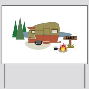 Camping Trailer Yard Sign