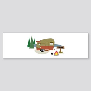 Camping Trailer Bumper Sticker