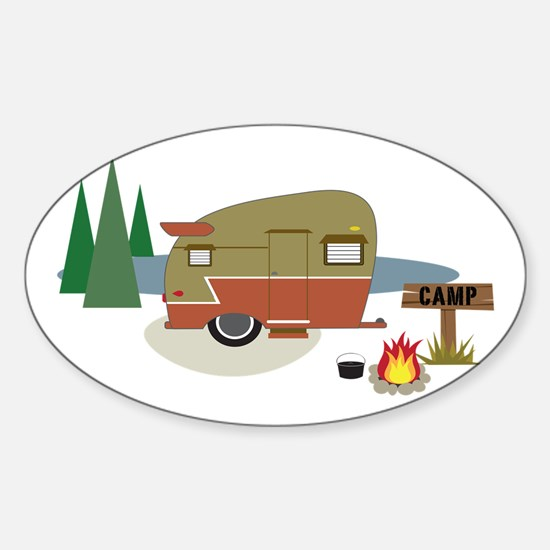 Camping Trailer Decal