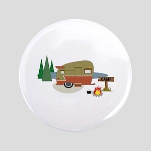 "Camping Trailer 3.5"" Button"
