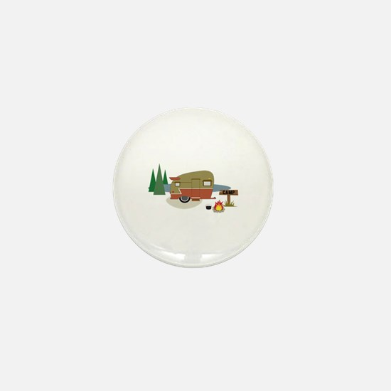 Camping Trailer Mini Button