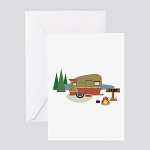 Camping Trailer Greeting Cards