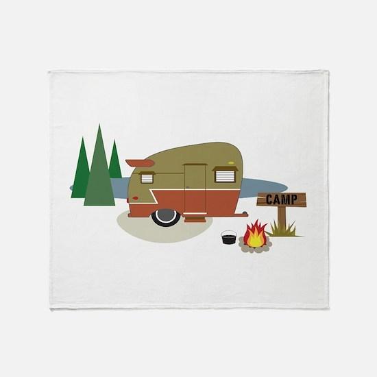 Camping Trailer Throw Blanket
