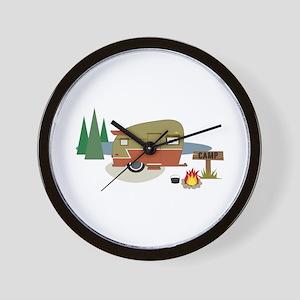 Camping Trailer Wall Clock