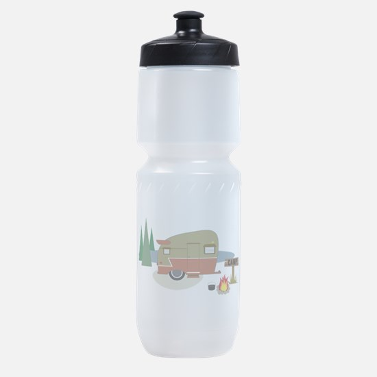 Camping Trailer Sports Bottle