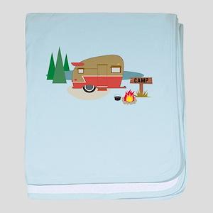 Camping Trailer baby blanket