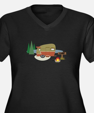 Camping Trailer Plus Size T-Shirt