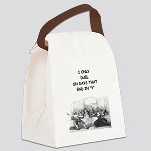 FENCING3 Canvas Lunch Bag