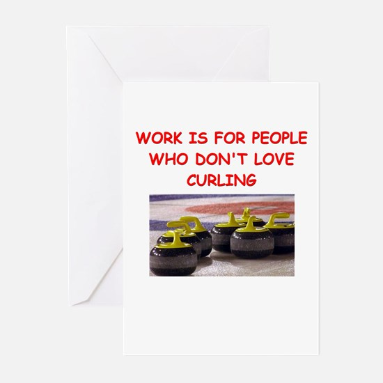 CURLING2 Greeting Cards
