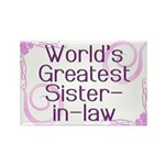 World's Greatest Sister-in-Law Rectangle Magnet (1