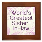 World's Greatest Sister-in-Law Framed Tile
