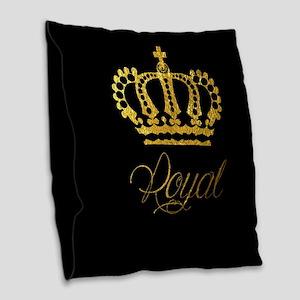 Royal Burlap Throw Pillow