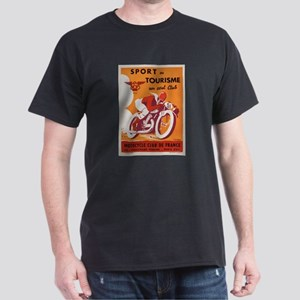 Vintage French Sports Poster Dark T-Shirt