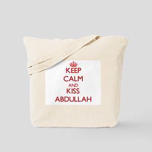 Keep Calm and Kiss Abdullah Tote Bag