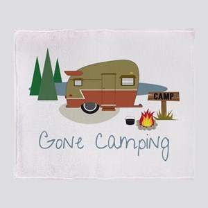 GONe camping Throw Blanket