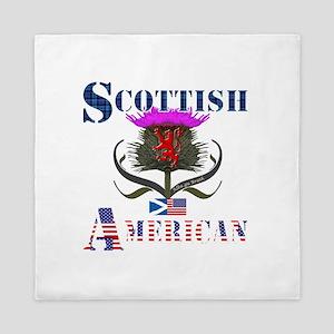 Scottish American Thistle Queen Duvet