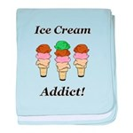 Ice Cream Addict baby blanket