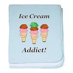 Ice Cream Addict baby blanket