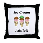 Ice Cream Addict Throw Pillow