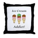 Ice Cream Addict Throw Pillow