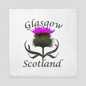 Glasgow Scotland Thistle Queen Duvet