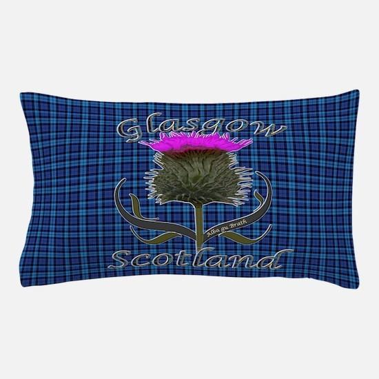 Glasgow Scotland Thistle Pillow Case