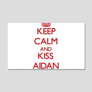 Keep Calm and Kiss Aidan Wall Decal