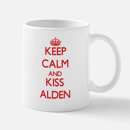 Keep Calm and Kiss Alden Mugs